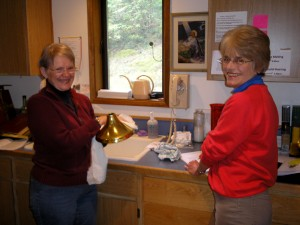Members of the Altar Guild in the Sacristy